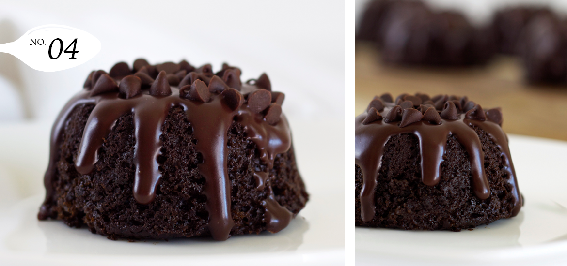 Triple Chocolate Mini Bundt Cakes
