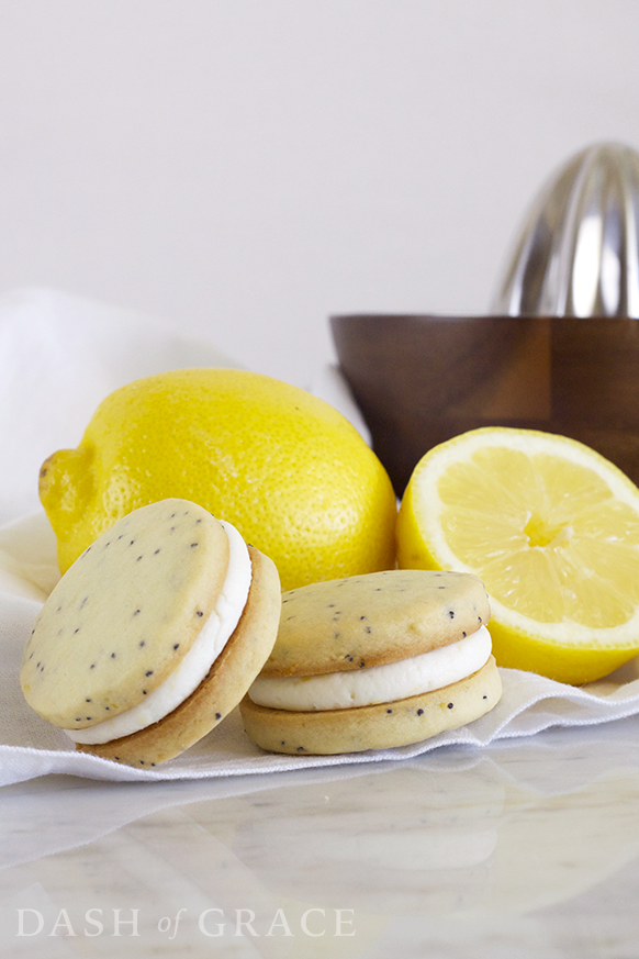 Lemon Poppyseed Sandwich Cookies Recipe