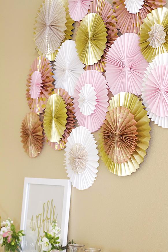 Paper fan paper rosette diy dash of grace paper fan and paper rosette diy mightylinksfo