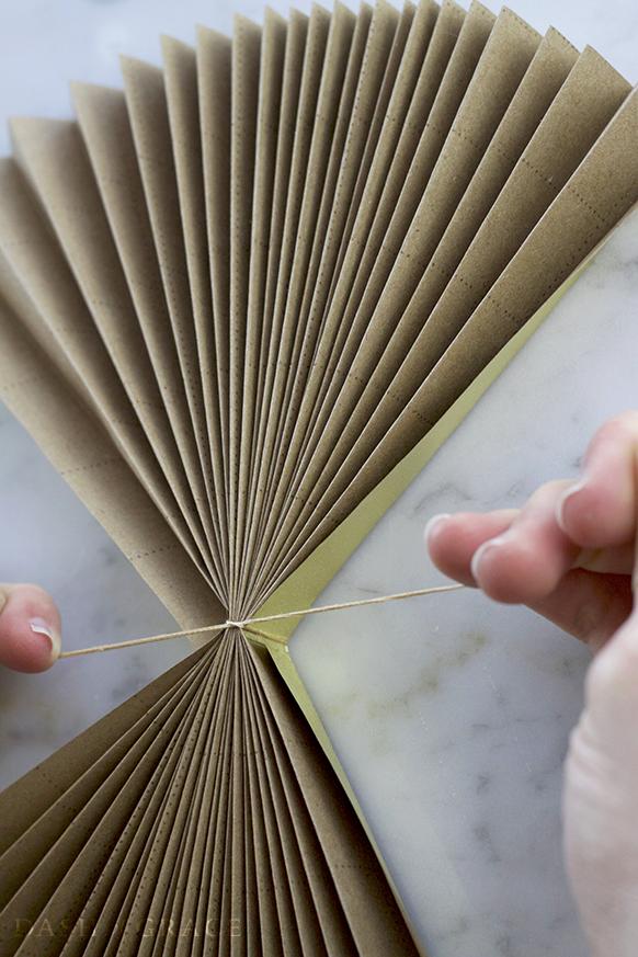 Paper Fan And Rosette Diy