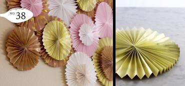 Paper Fan/ Paper Rosette DIY