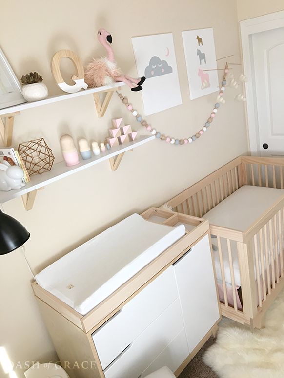 baby newman s nursery reveal dash of grace rh dashofgrace com Shelves for a Baby Boys Nursery shelving for baby nursery