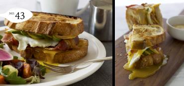 Honey Mustard Avo Pear Breakfast Sandwich