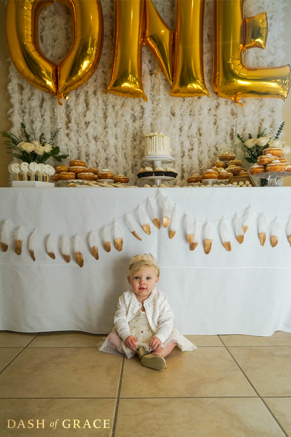 Quinn Newman's Swan Themed Birthday